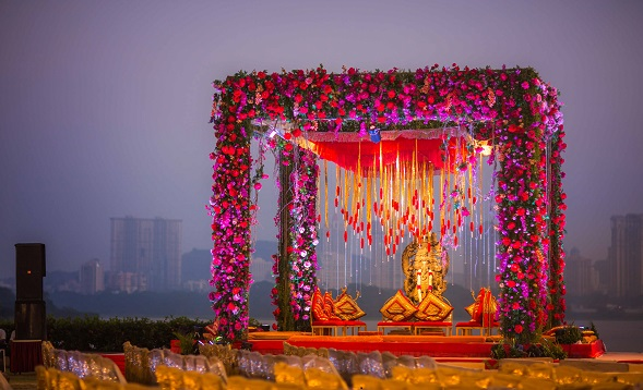 traditional colors of Mandap in wedding