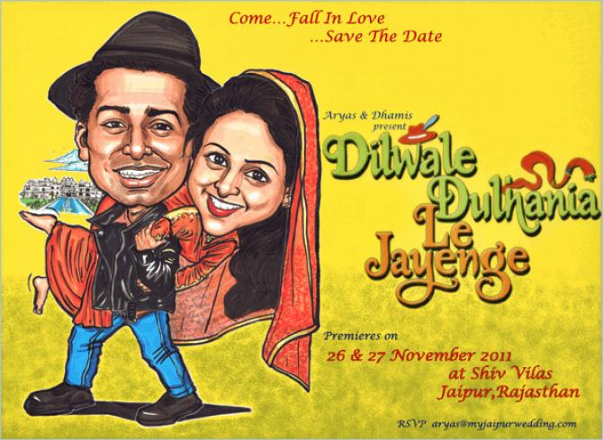 Save the date Bollywood poster