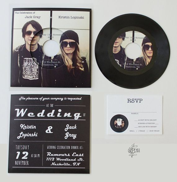 Unique Wedding Invitation Card