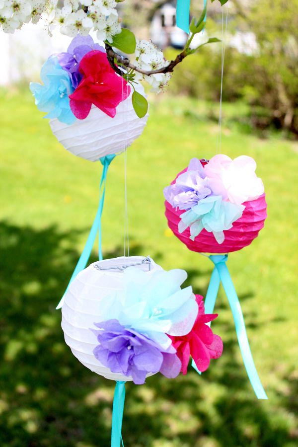 Colorful Paper Flower Lanterns
