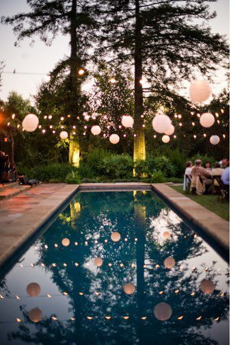 Pool Party With Some Paper Lanterns