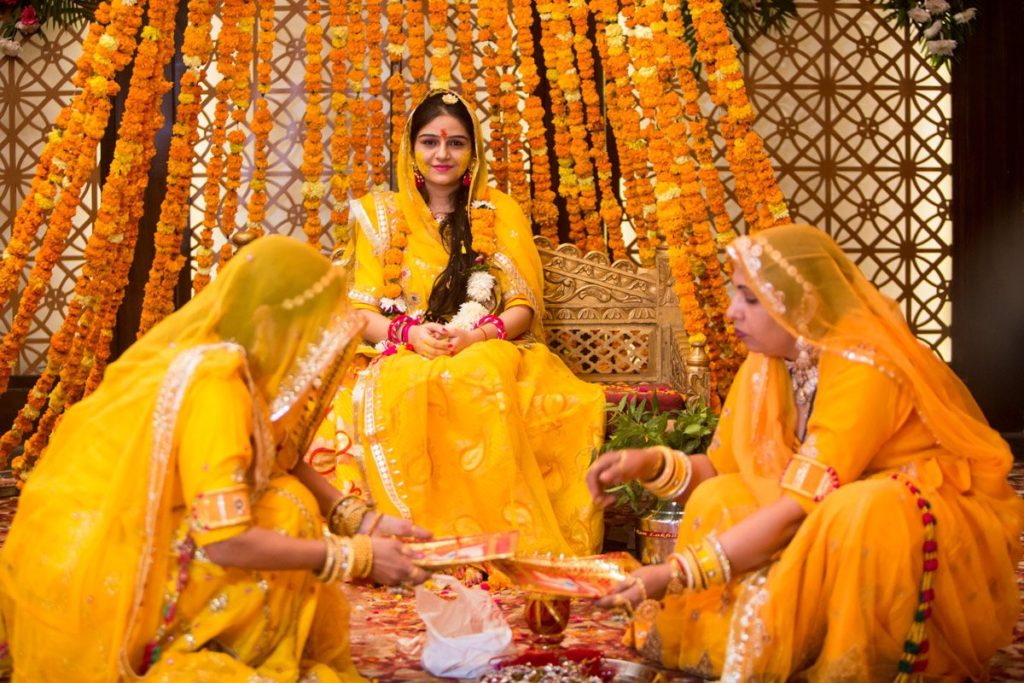 Rajput Wedding Rituals Haldi Ceremony