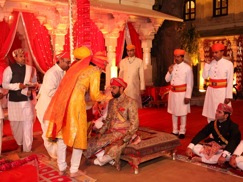 Rajput Wedding Rituals -Tilak