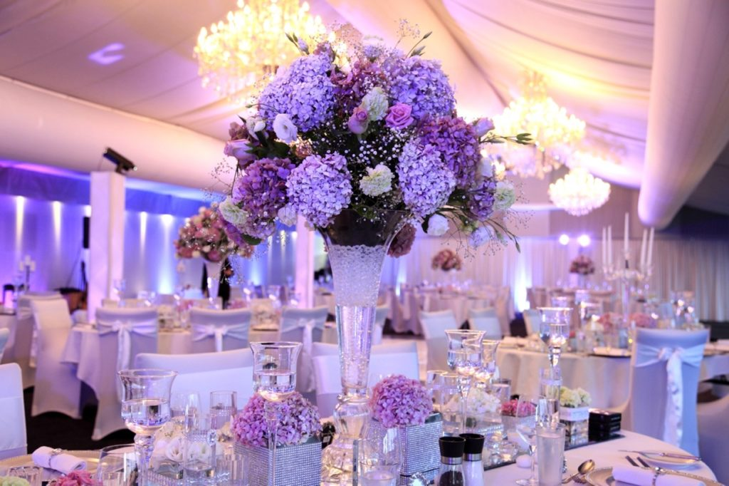 PURPLE FLOWERS FOR WEDDING