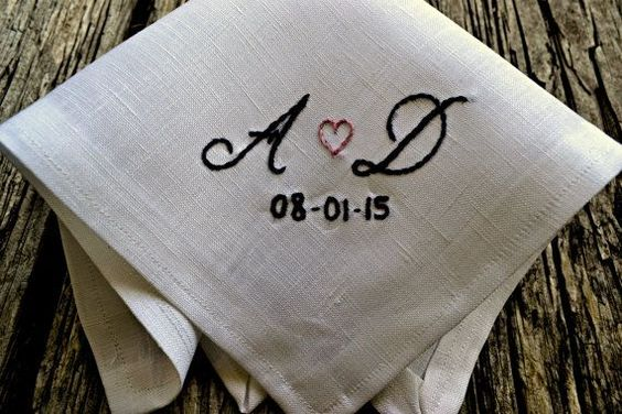 Gifts From The Groom For The Bride Dated Handkerchief