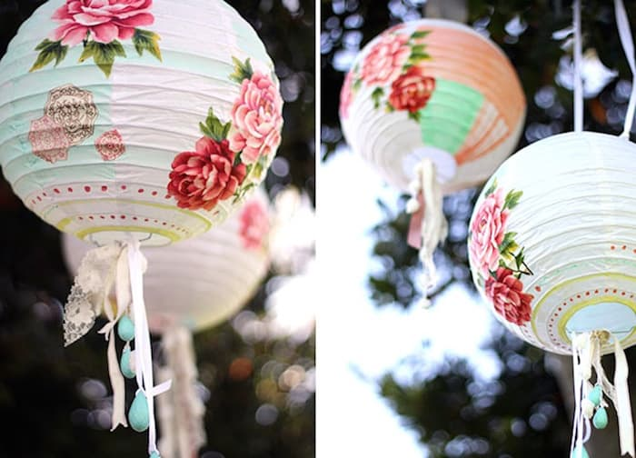 Painted Lanterns For Wedding