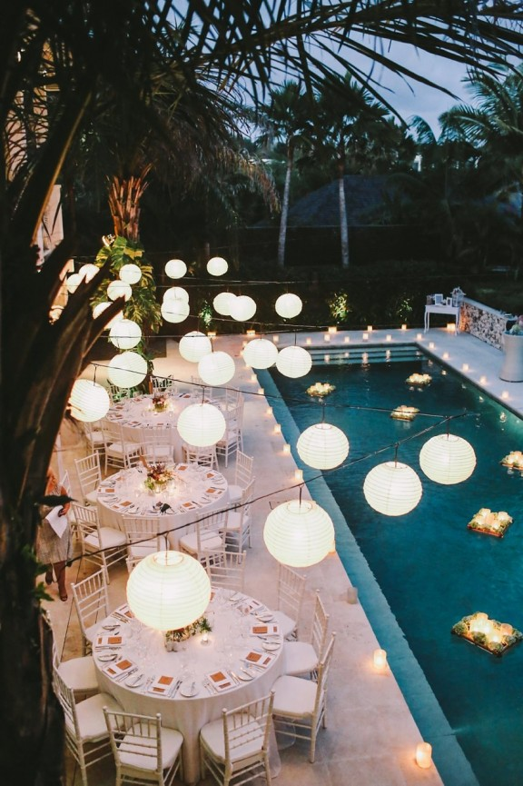 Pool Party With Some Paper Lanterns Ideas