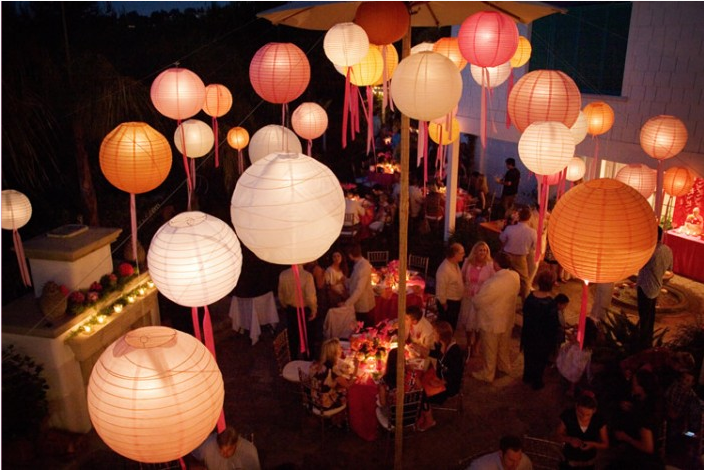 Ribbon Paper Lanterns Decor Ideas